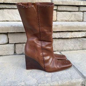 VNTG DIBA wedge boots Sz 6 1/2 M